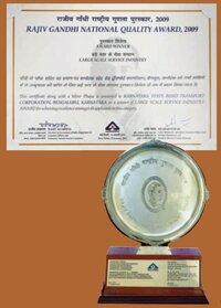 07 RAJIV GANDHI NATIONAL QUALITY AWARD-2009