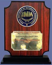 16 IIMM CORPORATE EXCELLENCE AWARD-2010